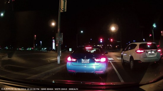 Waiting for a light to change in Markham - Captured on the Garmin 20
