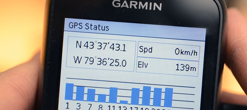 Showing the GPS Satellite Status on the Garmin Dash Cam 20