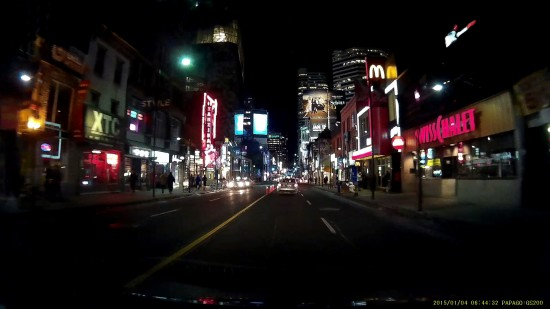 Video captured from downtown Toronto on the Papago GS200