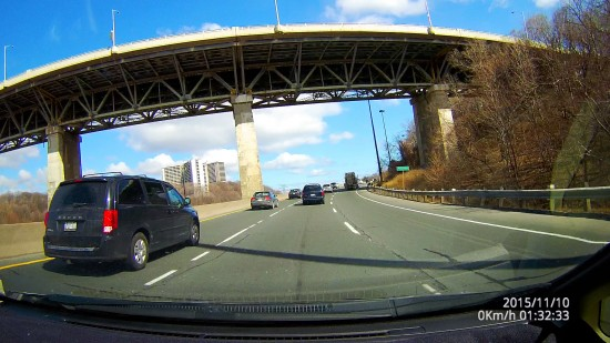 Dome D201 Video Screenshot - Daytime Driving Under a Bridge in Toronto