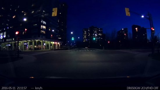 Blackvue - Driving in Mississauga Downtown Dark Screenshot