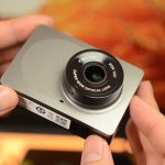 XiaoYi (XiaoMi) showing the front and bottom of the camera