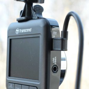 Transcend 200 Installed Showing USB Cable